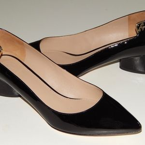 TORY BURCH black patent pointy pumps heels 7.5 m